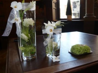 Blumen für das Standesamt und florales Ringkissen