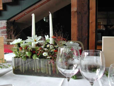 Tischdekoration bei Hückelsmay
