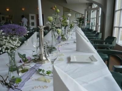 Tischdekoration im Goldclub Stadtwald
