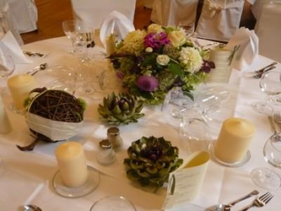 Tischdekoration im Stadtwaldhaus
