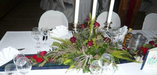 Tischdekorationen bei Hückelsmay