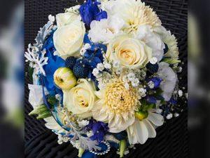 Brautstrauss blau-lila